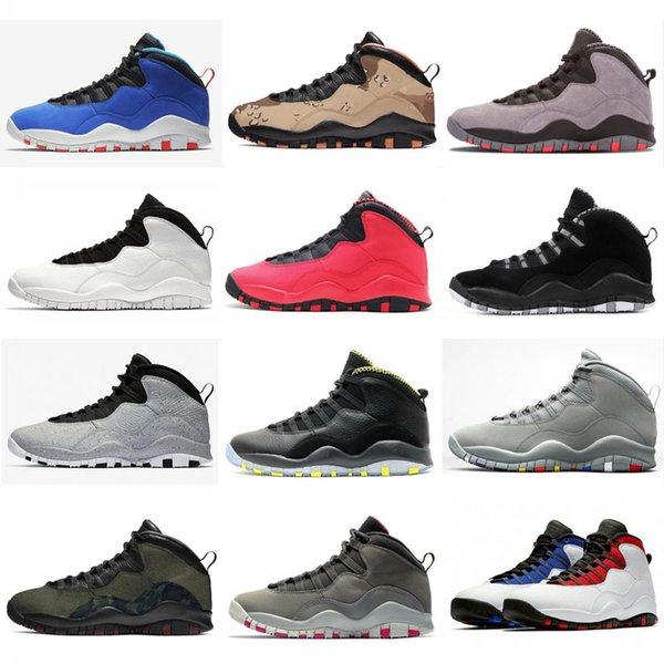 2019 Yeni Desert Camo 10s Günlük Ayakkabılar Woodland Orland 10 X Westbrook Im geri Koyu Gri Çelik Erkekler Casual Ayakkabı 40-47 Duman Çimento