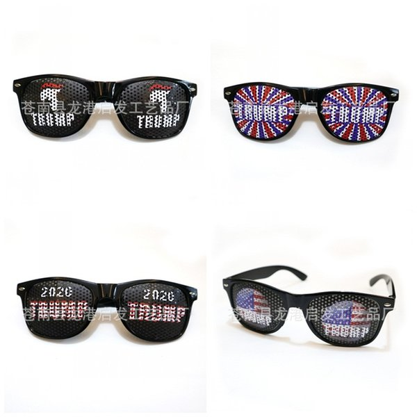 US Donald Trump Glasses 2020 USA National Flag Eyeglass PC Frame United States President Election Spectacles Fit Party Supplies 4 5qf E1