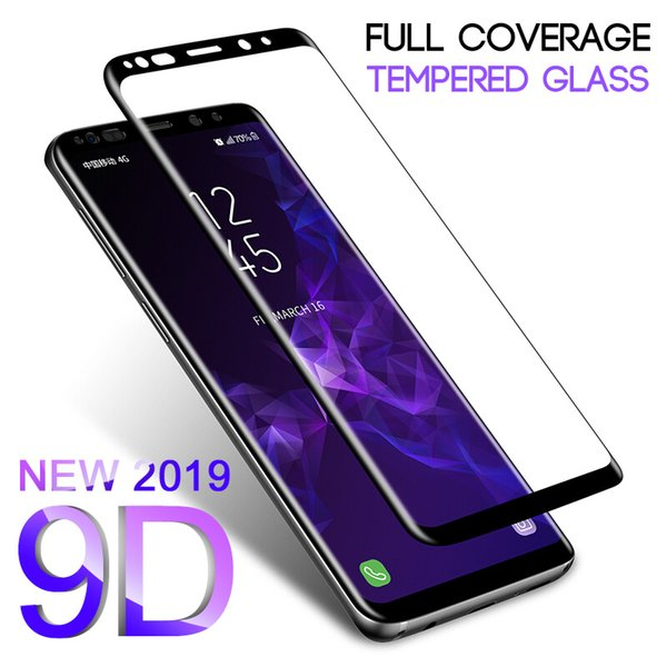 9D Full Curved Tempered Glass For Galaxy S8 S9 Plus Note 8 9 Screen Protector For S6 S7 Edge S8 Protective Glass