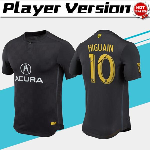 MLS Player version Crew 2018 Soccer Jersey noir loin # 10 # 11 HIGUAIN chemise de football ZARDES uniformes de football