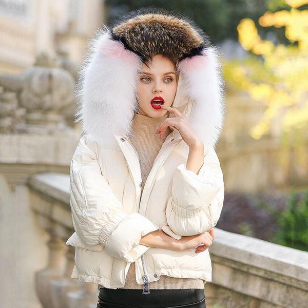 Large Genuine Fur Collar 2018 Winter Women's Duck Down Jacket Women Small Coat Female Down Jacket Ladys Warm Thick Coat