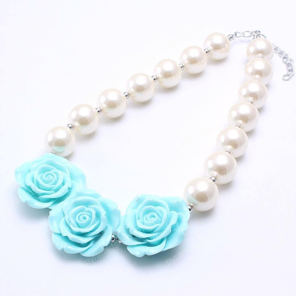 Hot Ivory Color Pearl Beads Kid Chunky Necklace Beautiful Big