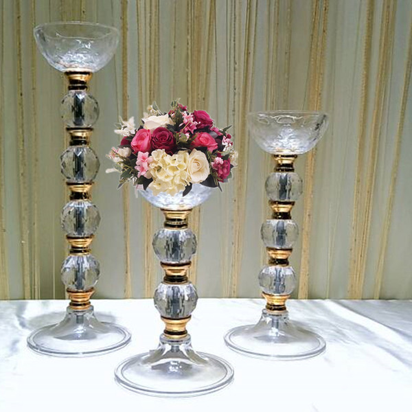 Europe Brief Vase Acrylic Flower Stand Pillow Pot Home Deliate Vases Rome Wedding Centerpieces Table Decoration senyu0324