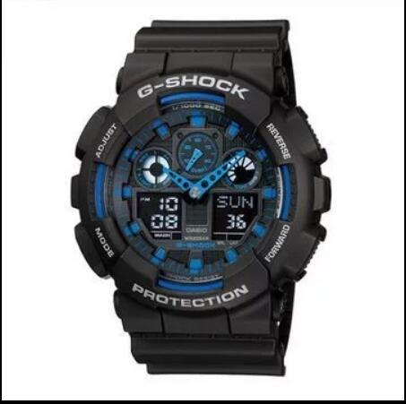 top popular Chronograph G-Shock Wristwatch Men's Sports Style Watches Student Outdoor Running Ladies Sports Watch LED Dual Display Multi-function Watch 2019