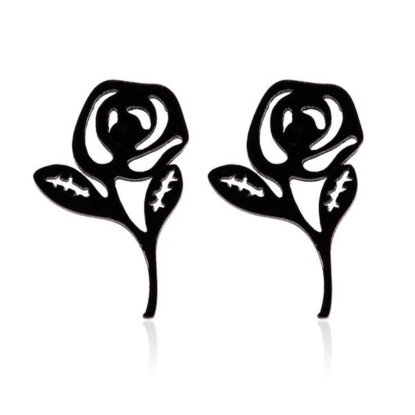 Rose Flower Ear Studs, Hypoallergenic & Nickel Free Earrings for Women Stainless steel rose stud earring