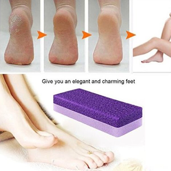 Pu Pedicure Foot Grinding Pumice Stone Foot File Scruber Hard Skin Remover Pedicure Brush Bathroom Products Foot Care Tool SH190727