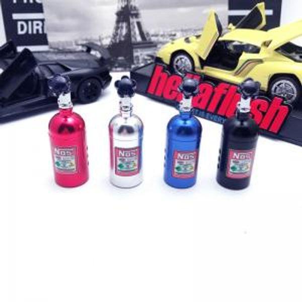 best selling Nos Bottle Air Freshener Car Auto Perfume Bar Fragrances Clip Aluminum Alloy NOS Bottle Tank car Outlet Perfume Clip 4styles GGA1520