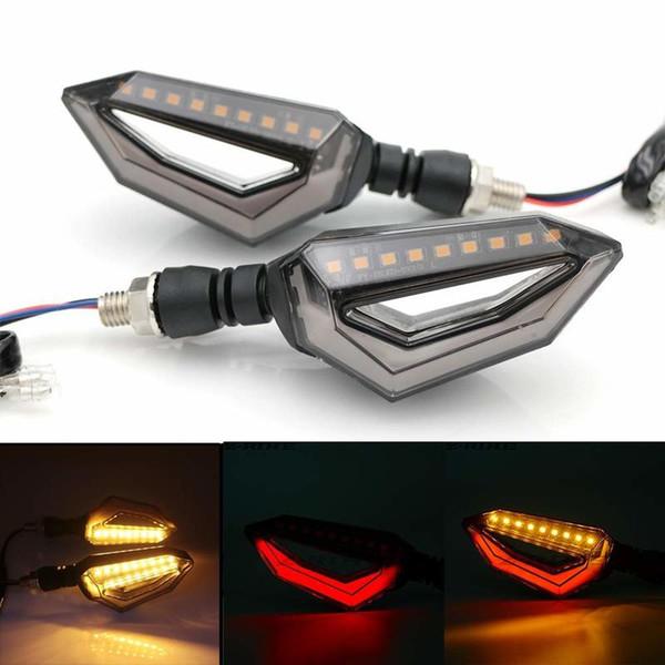 Indicatori di direzione a LED universali 12 luci posteriori Blinker per moto Cruiser moto Honda Kawasaki BMW Yamaha