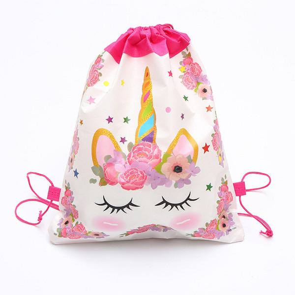 Karikatür Unicorn İpli Çanta Dokuma Sling Çanta Çocuk Sırt Unicorn Okul Çantası Erkekler Kızlar Kılıfı Parti Doğum Günü Hediyeleri En