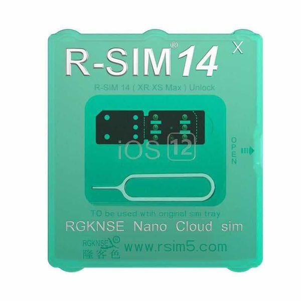 Brand new e hot rsim 14 a última versão cartão de desbloqueio para todos os ios iphone ios 12 AUTO-Desbloqueio 4G LTE X XS MAX