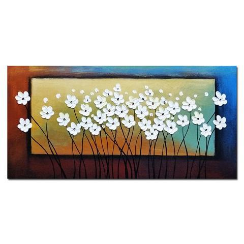 Wall Art Flowers Handpainted &HD Print Modern Abstract Landscape Art Oil Painting Home Deco on Canvas Multi sizes /Frame Options l58