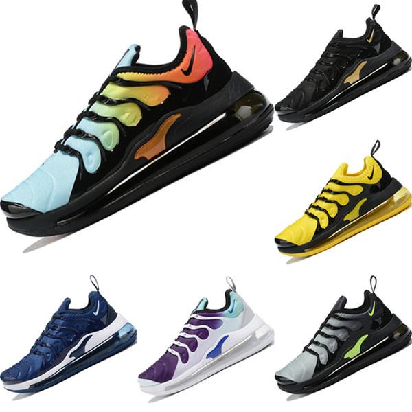2019 Plus TN720 en tissu tricoté respirant chaussures de course Originals TN720 Plus Tous Zoom Air Cushioning Chaussures de Sport