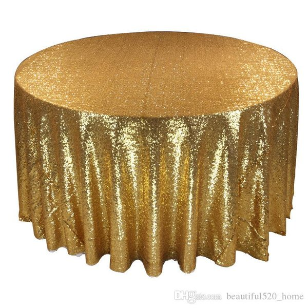 best selling Sequin Tablecloth Fashion Wedding Table Decorations 5 color Round Table Cloth BH18035