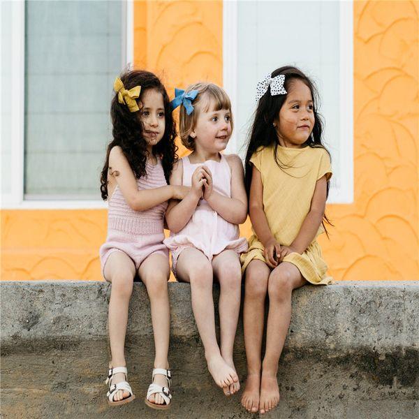 Baby Girls Lovely Bohemian Style Bow BB Hair Clips Headwear Children Hairpins
