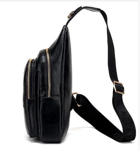 Wholesale- FD BOLO Brand Bag Men Chest Pack Single Shoulder Strap Backpack Leather Travel Bag Men Crossbody Bags Fashion Rucksack Chest Bag