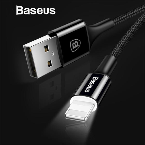 Baseus LED illuminazione Caricabatterie per iPhone X / 8/7 USB per iPhone iPad Cavo di ricarica rapida Caricabatterie Dati del telefono cellulare
