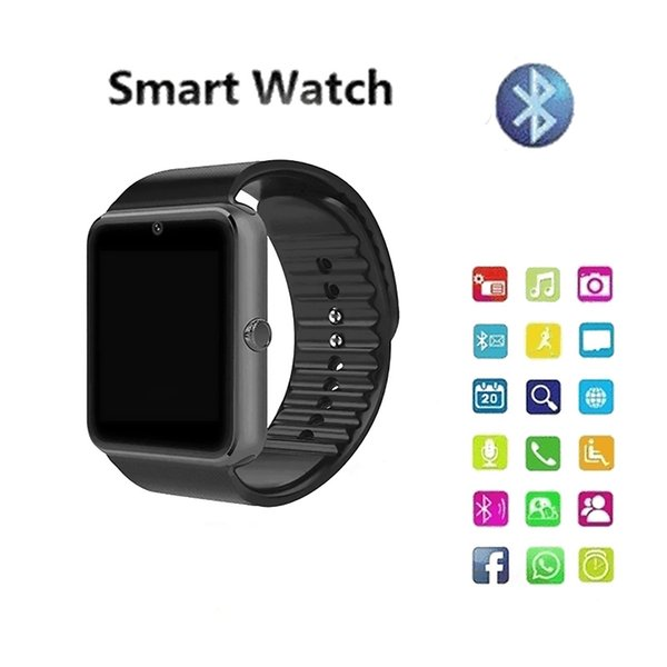 Smart Watch GT08 Men's and Women's Bluetooth Wrist Smart Watch Support SIM / TF Card Camera Smart Touch Screen Watch for Android Phone