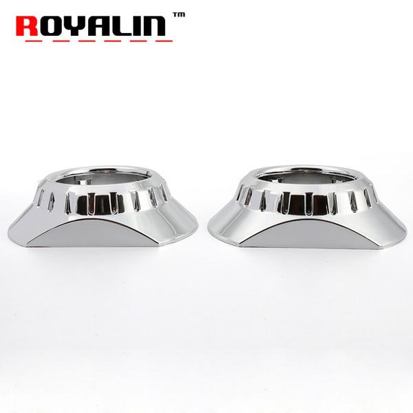 ROYALIN For E46-R Extended Projector Lens Mini Headlight Shrouds For BMW M3 E90/E91/E92/E93 ZKW E46 Compact H1 H4 H7 Lights