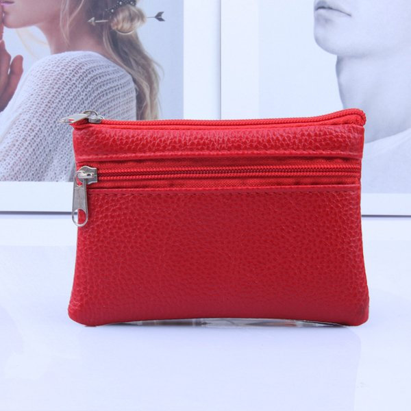 Leather Coin Purse Women Small Wallet Change Purses Mini Zipper Money Bags Children's Pocket Wallets Key Holder carteira