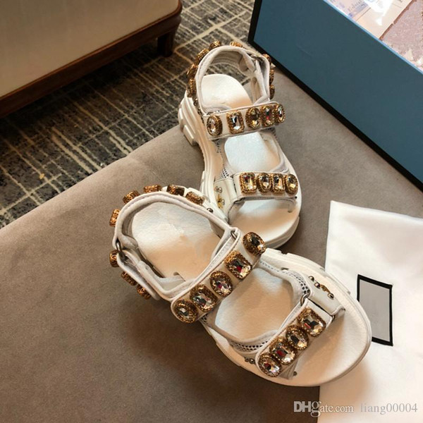 Size 35-40 new 2019 ladies summer diamond casual shoes beach sandals ladies flat jelly designer ladies sandals