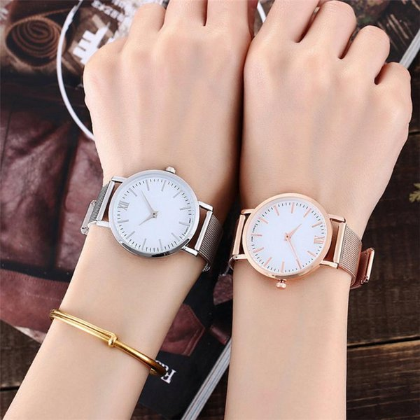 Fashion Couple Delicate Alloy Watches Popular Casual Quartz Women Men Watch Lover's Gift Clock Boys Girls Wristwatch #D