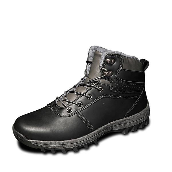 Acheter Chaussures Hommes Nouveau Chaudes Bottines Chaussures En De Bottes Bottes Martin De Cheville Noël Homme Cuir De Bottes D'hiver Bottes Fourrure 2I9eYWEDbH
