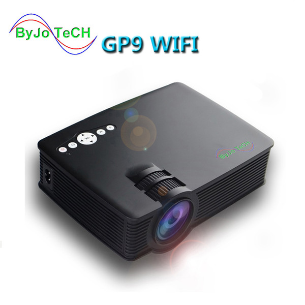 best selling GP-9 Mini Projector LED Projector Built-in android system wifi Full HD 1080P Portable USB Cinema Home Theater Pico LCD Video Mini Projector