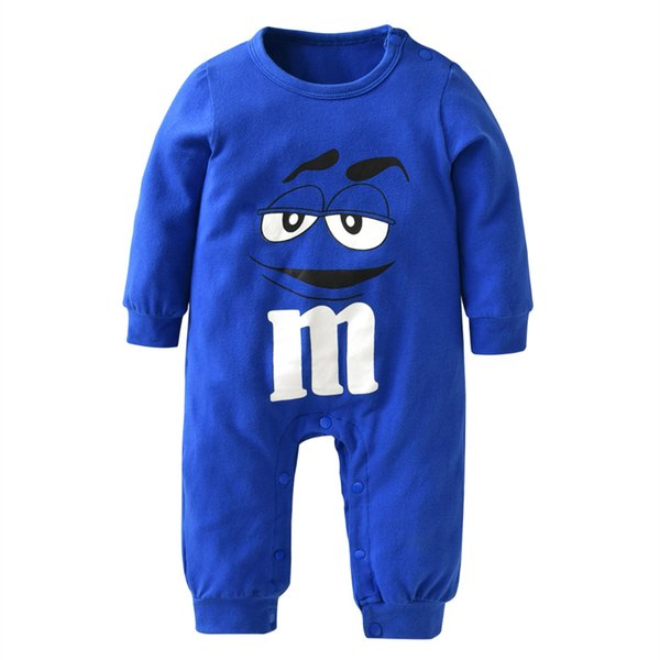 Autumn Newborn Infant Baby Boys Girls Clothes Cotton Long Sleeve Cartoon Print Jumpsuit Romper Toddler Clothing Outfits
