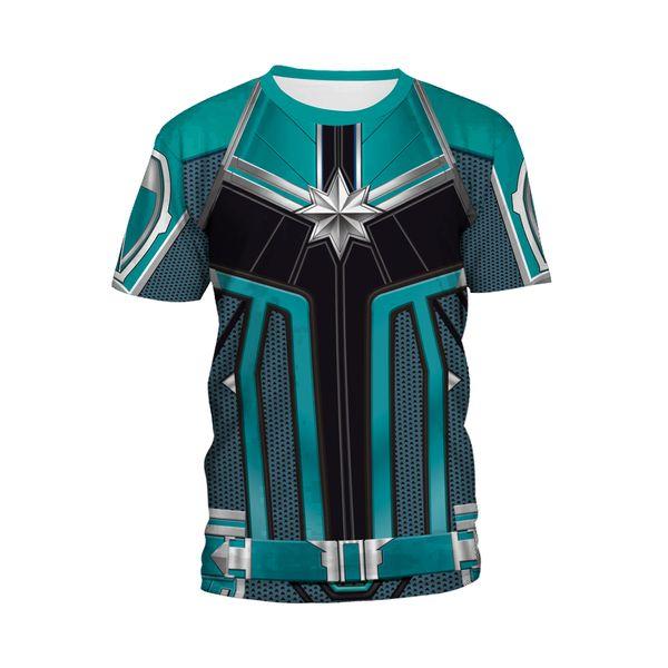 3D Printed Captain Marvel Cospaly Carol Danvers Ms Marvel Costumes Sweatshirts Tracksuit Casual hooded Jacket clothing Hoodies zipper L414B2