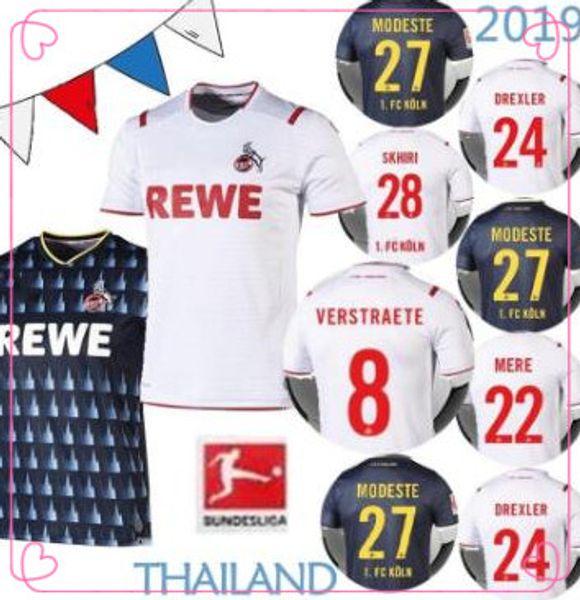 maillots de football FC Köln 2019 2020 19 20 maison troisième Skhiri DREXLER Meré HECTOR Verstraete Bornauw Koln FOOTBALL SHIRTS jersey
