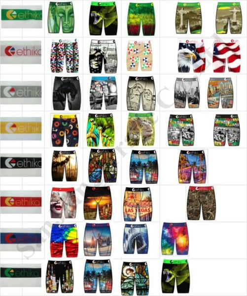 best selling Men Long Boxer Briefs Quick Dry Staple Fit Underwear Skateboard Street Trendy Sports Shorts Boxer Pants Boutique C111909