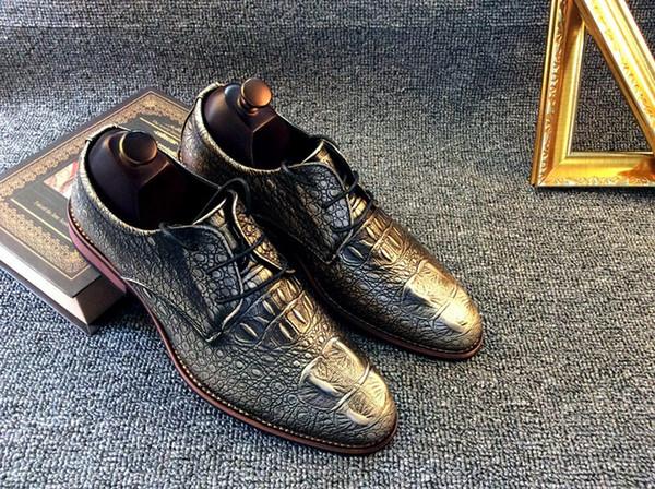 Zapatos de hombre Marca Moda Cuero genuino Zapatos de vestir Casual Conducción Oxfords Pisos Zapatos Hombres Mocasines para hombres 3 color a la venta