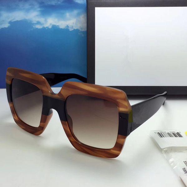 GUCCI GG0178 occhiali da sole firmati per le donne moda popolare estate stile di grande stile di alta qualità protezione da raggi UV gratuito venire con custodia
