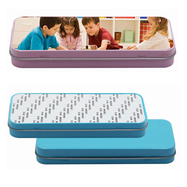 top popular sublimation metal pencil cases blank Pencil-box hot transfer printing blank consumables material two colours 2021