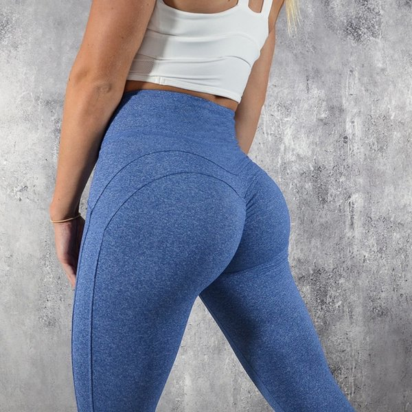 Fashion Fitness Leggings Women High Waist Workout Solid Patchwork Leggins Mujer 4color Q190510