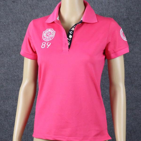 Novas T-Shirts de Treinamento de Golfe Mulheres Verão Sensação de Secagem Rápida Grande Manga Curta Senhora de Algodão Portões Perolados PG89 Golf T Shirt