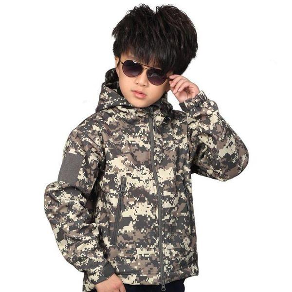 New TAD Tactical Shark Skin Children Outdoor Softshell Jacket Kids Sport Camping Clothes Waterproof Ski Hiking Jackets S-XXL