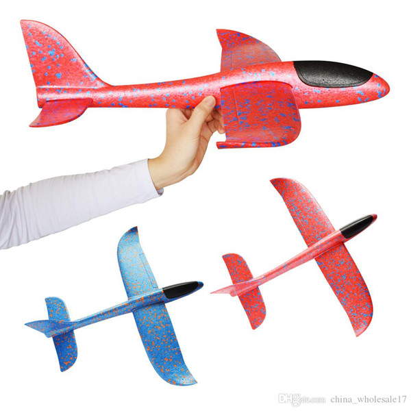 Free shipping 48cm Big Hand Launch Throwing Foam Palne EPP Airplane Model Plane Glider Aircraft Model Outdoor DIY Educational Toys