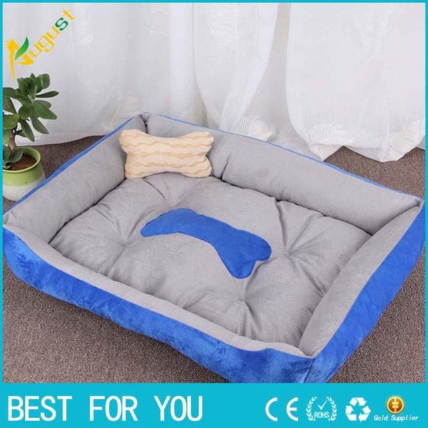 Hot Sale 2018 Warm Corduroy Padded Dog Bed Washable Pet House Mat Perros Soft Sofa Kennel Dogs Cats House For Large Dogs