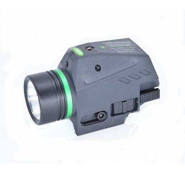 Тактический светодиодный фонарик зеленый / красный лазерный прицел для 20-миллиметрового рельса мини-пистолет свет lanterna Airsoft Light