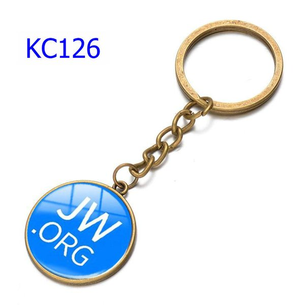 74 Styles Alloy Keychains Various Smiley Face Expression Car Keychains Time Gem Single Side Jw.Org Bags Keychain KC126