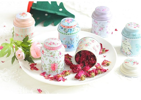 Europe Style Tea Caddy Candy Storage Box Wedding Favor Tin Box Cable Organizer Container Household W9558