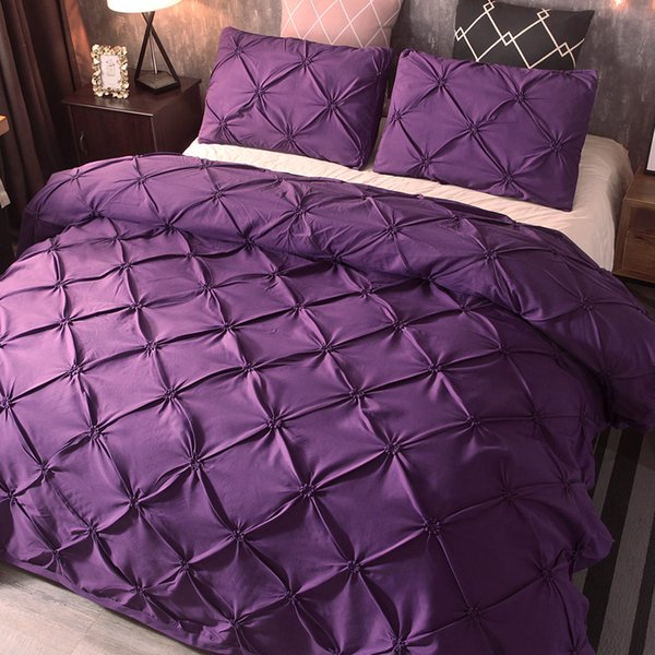 Purple Bedding Sets Bed Bed Sheet Home Hotel New Duvet Cover Sets Pillow Case Bedding Cover Set Quilt  Gift
