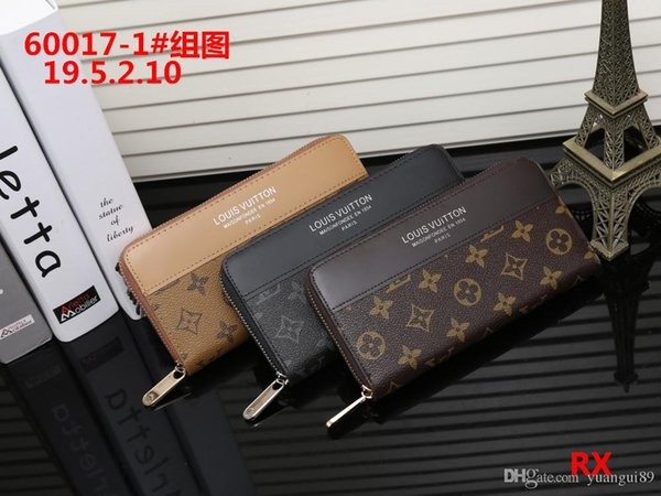 Hot! 2019 Wholesale Famous Brand Fashion Single Zipper Cheap Luxury Designer Women Pu Leather Wallet Lady Ladies Long Purse M10