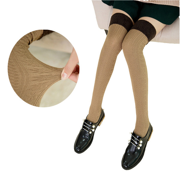 Winter Keep Warm Over Knee Stockings Women Outdoor Wear Tight Long Socks Teenage Girls Athleisure wear Thick Cotton Stockings