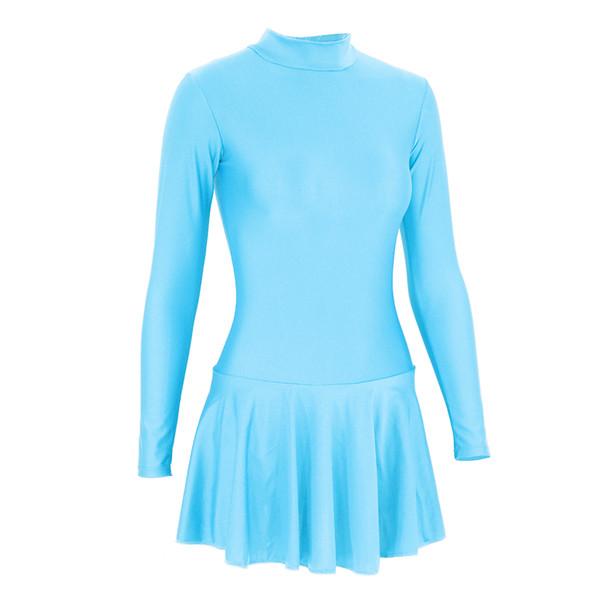 SPEERISE Ballet vestido de baile para los gilrs Leotard con faldas Trajes de cuello de tortuga manga larga de la bailarina del tutú de gimnasia Escenario