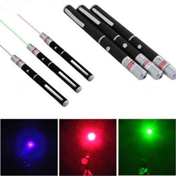 top popular 15CM Powerful Green Blue Red Laser Pointer Pen Stylus Beam Light Lights 5mW Professional Power Laser For Car SOS Mounting Night Hunting 2021