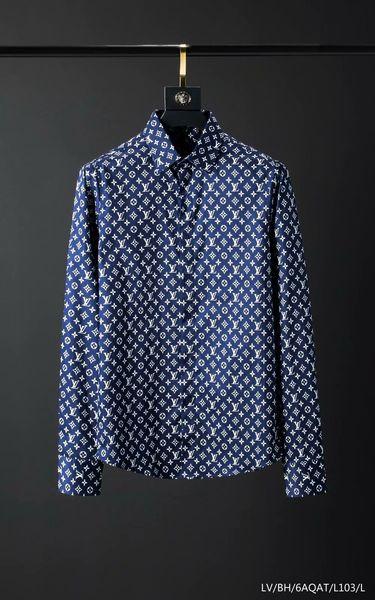 2019ss New Mens Marke Shirt Designer Shirt Französisch Marke Kleidung 008 männlichen Hemd Hip Hop Stil Druckqualität 100% Baumwolle