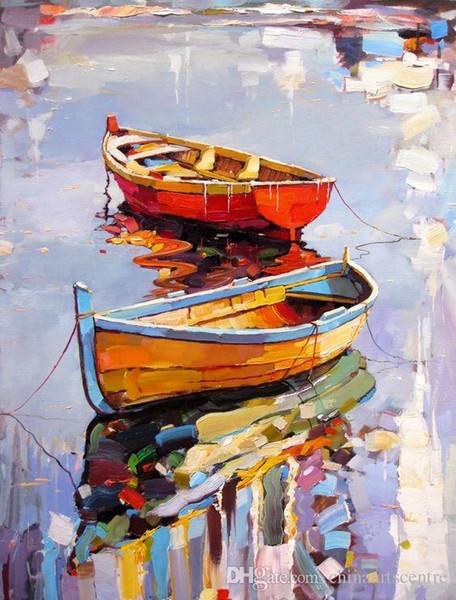 Virginie. Georgi Kolarov Bateaux et navires de haute qualité decores célèbre Paysage abstrait art Peinture à l'huile sur toile Wall Art Home Office De L16