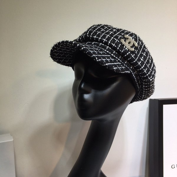 Newsboy Hats for Women,Plaid Printed Retro Cotton Wide Brims Newsboys Hats